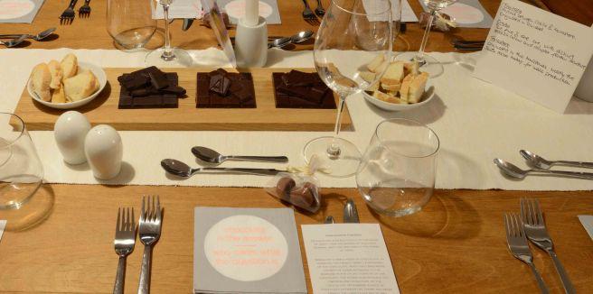 Degustation platte und karte mit text bitte